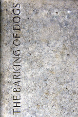 The barking of dogs (mind the goat) Tags: london dogs public rock stone bench poetry market charles carving dickens smithfield steet barking charlesdickens olivertwist