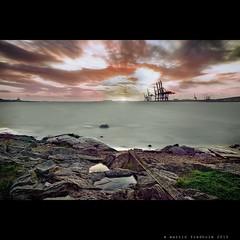 Misantropolis (martin fredholm) Tags: longexposure autumn sunset sea storm beach gteborg sweden harbour dusk tripod gale september hdr 2010 photomatix tonemapped nd110 mergedexposures justahintofhdr