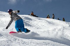 - Snowboarder at Arapahoe Basin,