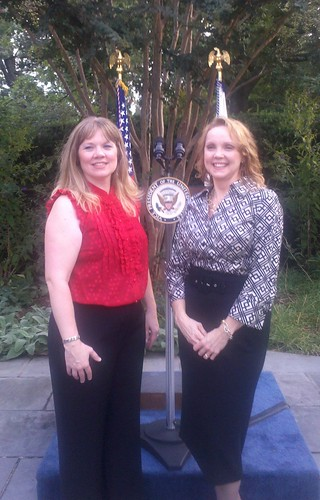 National Domestic Violence Hotline Director Katie Ray-Jones and Hotline CEO Dyanne Purcell at the reception.