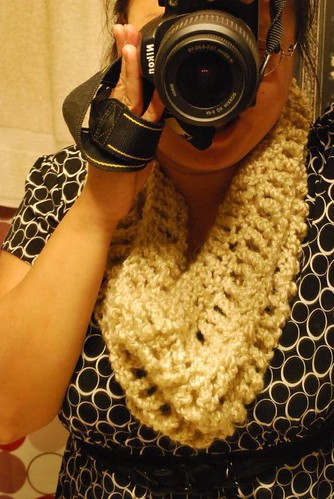 Crochet Cowl for myself =) Donut around my neck! haha by 6060eyes