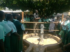 G M of BWP giving out his speech on behalf of BWP and TWP during hand over ceremony at Emalindi Girls school