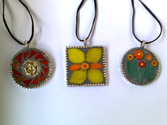 tropical pendants august 2010 (tropicaldebs) Tags: glass mosaic stained pendants milliefiori