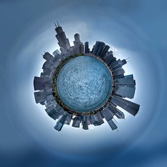 Little Planet Chicago (Bryan Nabong) Tags: chicago skyline illinois cityscape littleplanet