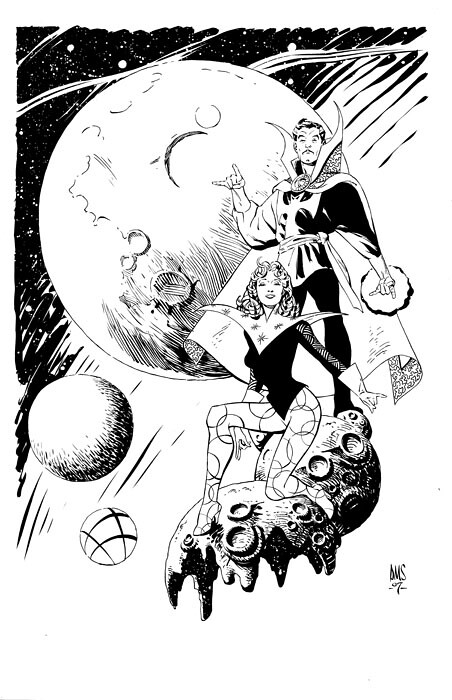 Paul Smith Doctor Strange and Clea from ComicArtFans Malcolm Bourne