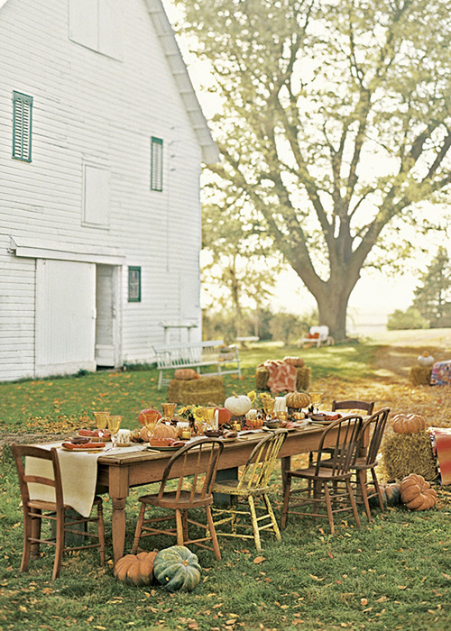 via country home fall table
