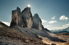 sun crown (Youronas) Tags: mountains alps berge alpen dolomites südtirol southtyrol dolomiten trecime dreizinnen explored abigfave