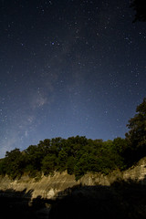 (SoLoInsano) Tags: trees night river way stars photography rocks astro norman boulders milky