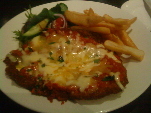 Chicken Parmi at the Rob Roy