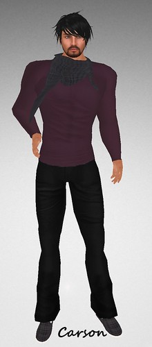 MHOH4 # 160 - GRUMBLE Purple Sweater, Black Pants, Scarf And Shoes