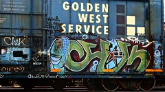 Chek (mightyquinninwky) Tags: railroad face train graffiti star character tag graf profile tracks railway tags tagged stamp railcar rails boxcar graff graphiti patty freight stamped chek trainart gws fr8 railart spraypaintart reflectivetape freightcar ssw goldenwestservice boxcarart freightart taggedboxcar paintedboxcar paintedrailcar taggedrailcar alice 11223344556677 carfireonflickr charactersformyspacestation