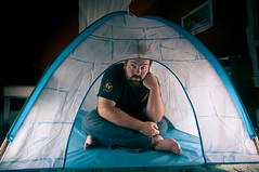 271/365 - Do I have to come out and play? (Micah Taylor) Tags: portrait feet self solitude alone bare tent igloo project365
