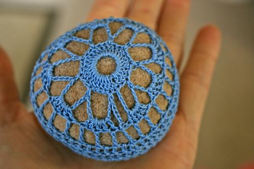 we won a crochet stone!