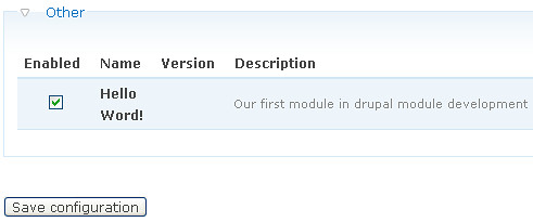 Drupal Module Activate the module tutorial