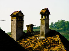 Chimneys (Raoul Pop) Tags: old sunset summer evening flickr seasons rooftops dusk romania transilvania chimneys medias smugmug facebook googlephotos chimneystacks olympusc770uz