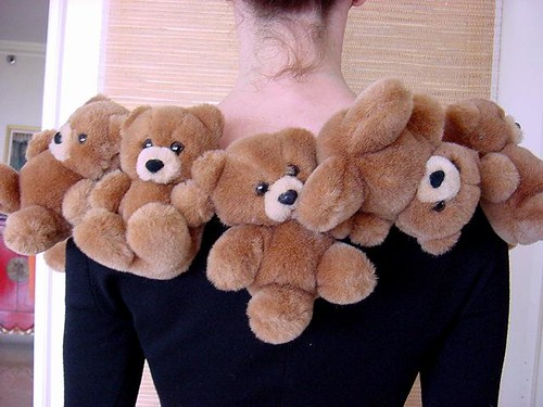 Vintage Moschino teddy bear dress