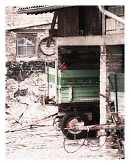 ~ The red bucket ~ (Iro {Ivy style33}) Tags: red green barn bucket farm naturally warmtones photographythroughivyseyes ~theredbucket~ exploringgermanywothgloria beigenaturals