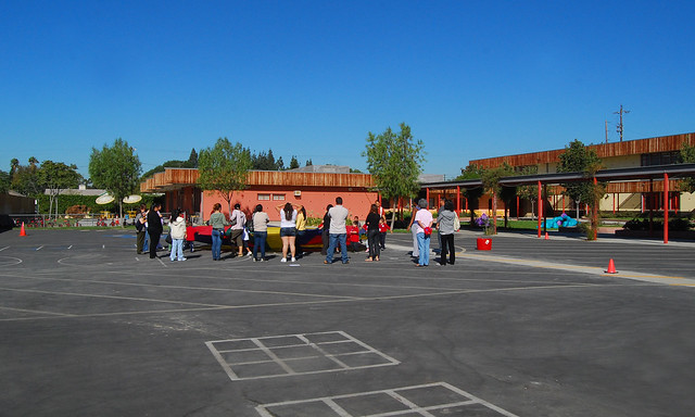 A view of the school
