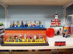 LEGO Area October 2, 2010 #6 (notenoughbricks) Tags: lego greengrocer legomocs citycorner cafecorner legocollection legodisplay legodesk legoworkspace legovideogamemosaics legoinstructionbooklets legocollectibleminifiguresdisplay