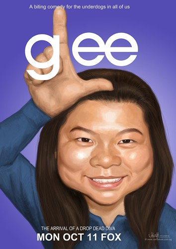 Glee themed caricature