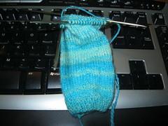 First Sleeve (Nethilia) Tags: sonali socks sweater knitting americangirl