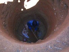 The technician shapes the well