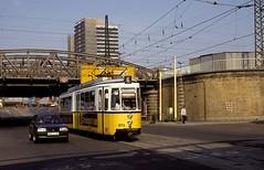873  Halle  24.07.91 (w. + h. brutzer) Tags: analog germany deutschland nikon trolley tram tramway halle strassenbahn streetcars webru
