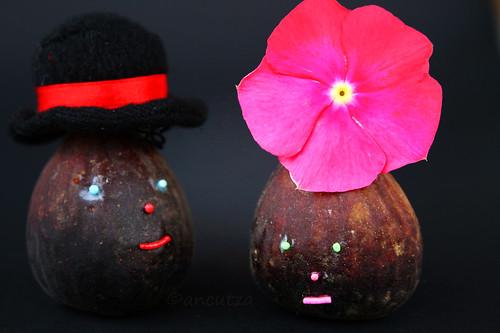 Foto divertente con fichi neri