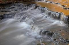 silver and gold steps (Thankful!) Tags: creek waterfall stream falls brook mississauga cascade sawmillcreek