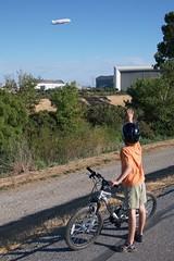 Blimp (Sergiy Matusevych) Tags: ca family kids cycling george hangar nasa blimp mountainview ames dirigible moffett windtunnel hangar1