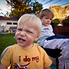 279/365 - Snot in my backyard (Micah Taylor) Tags: cold cute boys nose backyard slide teething snot runny 3yo 1yo project365 taylorkiddos
