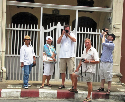 Group on walk in Phuket Town