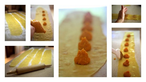 agnolotti di zucca (pumpkin ravioli) - filling
