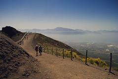 from the summit of Vesuvio ([Photom]) Tags: light italy mountain volcano coast nikon view path naples vesuvius bayofnaples vesuvio midday directsunlight sorrentopeninsular d5000