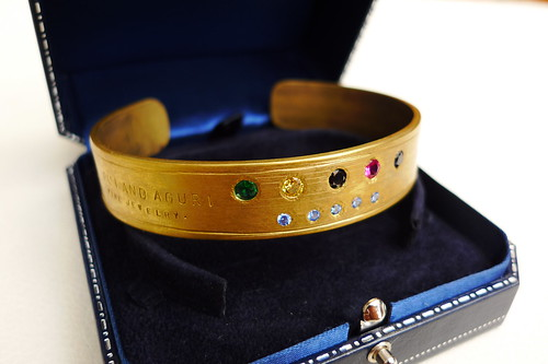 the brass bangle for prize of Kyotoloco 2010 by Rui&Aguri.