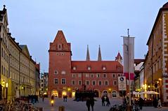Regensburg, Haidplatz, Neue Waag (Quasebart ...thank you for 4 Million Views) Tags: city germany deutschland historic unesco regensburg worldheritage weltkulturerbe haidplatz ratisbona