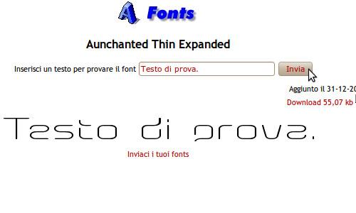 Figura 10 - Anteprima del font direttamente dal sito Goldenweb.it