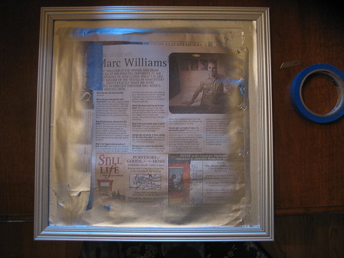 $2.00 mirror-painted frame silver
