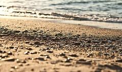 black beauties (aimeeern) Tags: statepark sunset lake beach canon rebel golden evening sand waves stones michigan shoreline lakemichigan sparkly warrendunes lapping xti