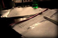 HSC exams (ohmerde) Tags: pen dark paper books studying studytable canon550d rebelt2i