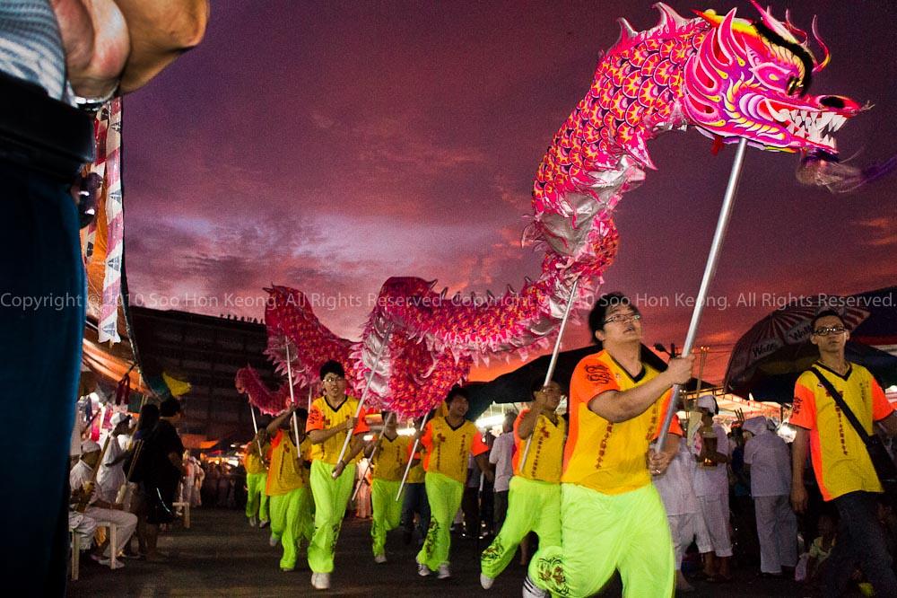 Dragon Dance @ Nine Emperor Gods Celebration, Ampang, Malaysia