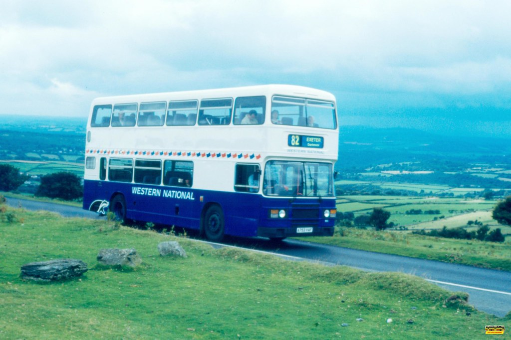 Western National Leyland Olympian 1803 A753VAF - Dartmoor - 08-09-1994.