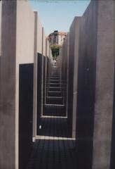 around the corner (peanut.butter14) Tags: berlin film analog germany holocaustmemorial verticality slabserif onthegrid canontlb ektar100 europeanextravaganza
