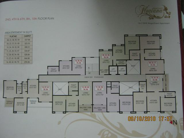 Bhagwati Floriana Bavdhan Pune - Floor Plan