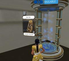 Meritaten enters transporter to cosmic gallery in virutal Amarna (Akhetaten) (mharrsch) Tags: ancient egypt 18thdynasty nefertiti transporter akhenaten virtualworld teleport meritaten amarna virtualenvironment mharrsch akhetaten heritagekey