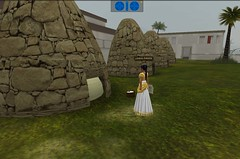 Meritaten checks the levels of the granaries in virtual Amarna (Akhetaten) (mharrsch) Tags: ancient egypt 18thdynasty nefertiti akhenaten granary virtualworld meritaten amarna virtualenvironment mharrsch akhetaten heritagekey