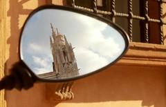 Der Dom von Siena im Rückspiegel