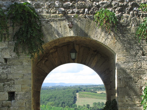 Monteriggioni city walls and countryside