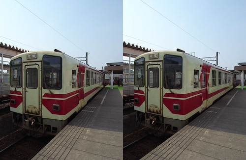 Akita Nairiku Jukan Railway, stereo parallel view