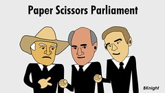 Paper scissors parliament